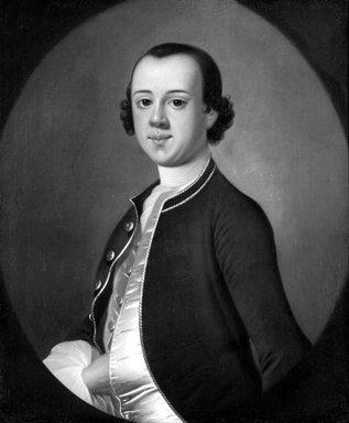 Jeremiah Theus (American, 1719-1774). Samuel Jones's Son, ca. 1760. Oil, 29 7/16 x 24 7/16 in. (74.7 x 62.1 cm). Brooklyn Museum, Caroline H. Polhemus Fund, 30.59