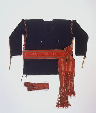 She-we-na (Zuni Pueblo) (Native American). Belt, late 19th century. Handspun commercial wool, commercial cotton, width: 4 1/8 in. (10.5 cm); length: 57 in. (144.8 cm). Brooklyn Museum, Estate of Stewart Culin, Museum Purchase, 30.803. Creative Commons-BY