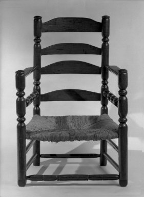 American. Armchair, 1650-1725. Oak, pine and possibly some maple, 38 3/4 x 26 7/8 x 18 in. (98.4 x 68.3 x 45.7 cm). Brooklyn Museum, Brooklyn Museum Collection, 30.885. Creative Commons-BY