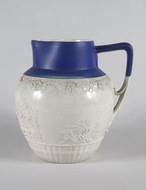 Pitcher, ca. 1820. Salt-glaze stoneware, 9 x 3 5/8 in. (22.9 x 9.2 cm). Brooklyn Museum, Gift of Mrs. Frederic B. Pratt, 30.903. Creative Commons-BY