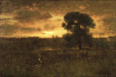 George Inness (American, 1825-1894). Sunrise, 1892. Oil on canvas, 27 13/16 x 43 7/16 in. (70.6 x 110.4 cm). Brooklyn Museum, Gift of the White family in memory of William Augustus White and Harriet Hillard White, 30.918