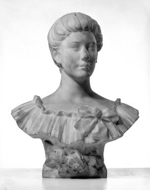 William Ordway Partridge (American, 1861-1930). Portrait of Sarah Baker Hester, 1905. Marble, 25 1/2 x 21 x 12 1/2 in. (64.8 x 53.3 x 31.8 cm). Brooklyn Museum, Gift of Mrs. Charles R. Baker, 30.923. Creative Commons-BY