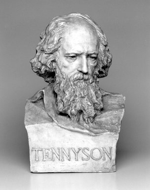William Ordway Partridge (American, 1861-1930). Portrait of Alfred Lord Tennyson, 1899. Plaster, 21 x 13 1/2 x 10 7/8 in. (53.3 x 34.3 x 27.6 cm). Brooklyn Museum, Gift of Mrs. Charles R. Baker, 30.924. Creative Commons-BY