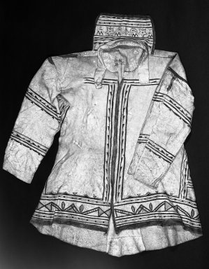 Naskapi (Native American). Women's Garment, early 20th century. Caribou hide, pigment, 36 1/4 x 52 1/16 in.  (92.0 x 132.3 cm). Brooklyn Museum, Museum Expedtion 1931, Museum Collection Fund, 31.1995. Creative Commons-BY