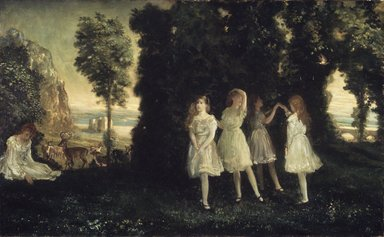 Arthur B. Davies (American, 1862-1928). Dancing Children, 1902. Oil on canvas, 26 x 42 3/16 in. (66.1 x 107.1 cm). Brooklyn Museum, Bequest of Lillie P. Bliss, 31.274.1
