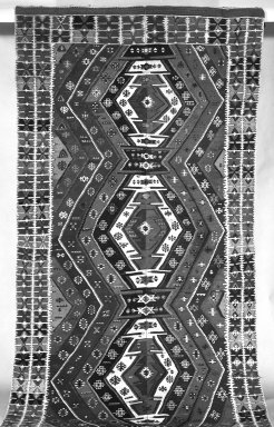 Kilim Weave Rug, 19th century. Tapestry, Other: 5 5/16 x 14 3/4 in. (13.6 x 37.5 cm). Brooklyn Museum, Gift of Mrs. Walter Lincoln Tyler, 31.715. Creative Commons-BY