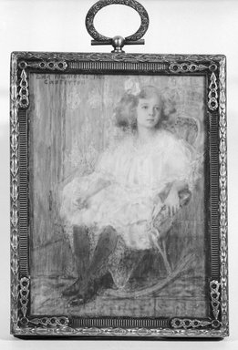 Eda Nemoede Casterton (American, 1877-1969). Mae Olson, 1906. Watercolor on ivory in brass frame under glass, Image (sight): 3 13/16 x 2 3/4 in. (9.7 x 7 cm). Brooklyn Museum, Museum Collection Fund, 31.763