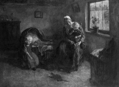 Jacob Simon Hendrik Kever (Dutch, 1854-1922). Dutch Interior, n.d. Oil on canvas, 42 1/2 x 56 1/16 in. (108 x 142.4 cm). Brooklyn Museum, Gift of the children of John J. Walton, 31.766