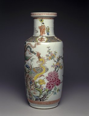 Vase, 1662-1772. Porcelain, overglaze enamel, 18 1/4 x 7 5/8 in. (46.4 x 19.4 cm). Brooklyn Museum, Gift of the executors of the Estate of Colonel Michael Friedsam, 32.1126. Creative Commons-BY