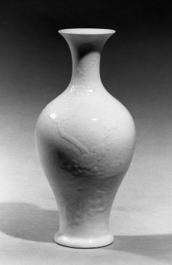 Vase, first half of 18th century. Porcelain, glaze, 7 5/16 x 3 9/16 in. (18.5 x 9 cm). Brooklyn Museum, Gift of the executors of the Estate of Colonel Michael Friedsam, 32.1142. Creative Commons-BY