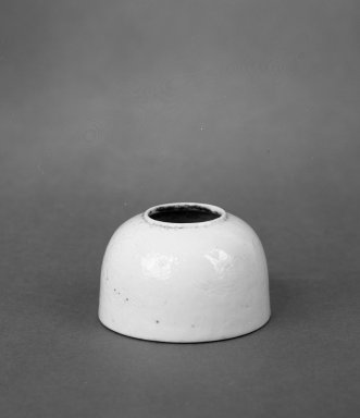 Very Small Water Coupe, 1736-1795. Porcelain, glaze, 1 3/8 x 2 1/4 in. (3.5 x 5.7 cm). Brooklyn Museum, Gift of the executors of the Estate of Colonel Michael Friedsam, 32.1180. Creative Commons-BY