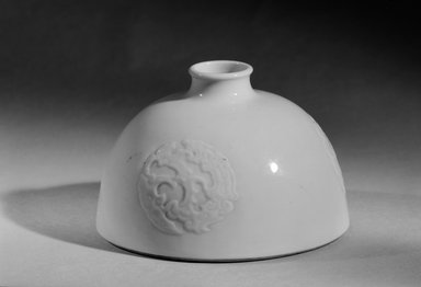 Water Jar (Yu), 1662-1722. Porcelain, 3 1/4 x 5 3/16 in. (8.3 x 13.1 cm). Brooklyn Museum, Gift of the executors of the Estate of Colonel Michael Friedsam, 32.1183.2. Creative Commons-BY