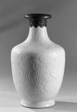 Vase, 1736-1795. Porcelain, glaze, 9 3/4 x 5 13/16 in. (24.8 x 14.7 cm). Brooklyn Museum, Gift of the executors of the Estate of Colonel Michael Friedsam, 32.1187. Creative Commons-BY