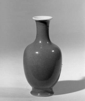Vase, 18th-19th century. Porcelain with monochrome glaze, 5 1/4 x 2 5/8 in. (13.3 x 6.7 cm). Brooklyn Museum, Gift of the executors of the Estate of Colonel Michael Friedsam, 32.1216. Creative Commons-BY