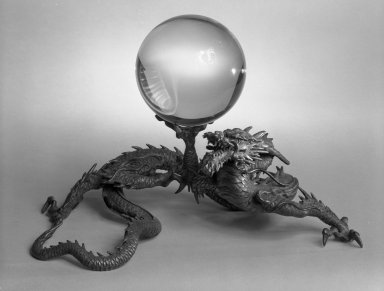Medium Sized Ball and Stand, 19th century. Crystal, bronze, 18.5 x 27.5 cm (18.5 x 27.5 cm). Brooklyn Museum, Gift of the executors of the Estate of Colonel Michael Friedsam, 32.1277a-b. Creative Commons-BY
