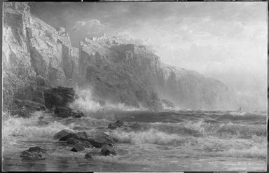 William Trost Richards (American, 1833-1905). The League Long Breakers Thundering on the Reef, 1887. Oil on canvas, 28 3/16 x 44 1/8in. (71.6 x 112.1cm). Brooklyn Museum, Bequest of Alice C. Crowell, 32.140