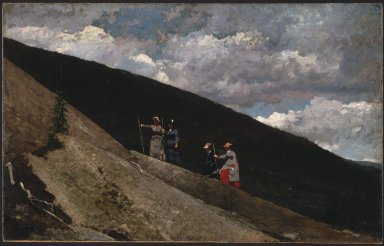 Winslow Homer (American, 1836-1910). In the Mountains, 1877. Oil on canvas, 23 7/8 x 38 1/8 in. (60.6 x 96.9 cm). Brooklyn Museum, Dick S. Ramsay Fund, 32.1648