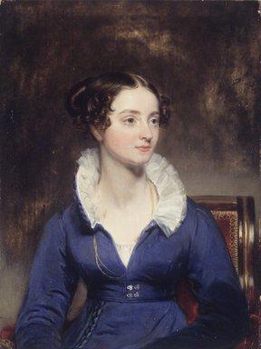 Henry Inman (American, 1801-1846). Portrait of a Woman, ca. 1825. Oil on panel, 8 x 6 3/8 in. (20.3 x 16.2 cm). Brooklyn Museum, Lydia Richardson Babbott Fund, 32.1680