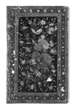 One Leaf of a Book Cover, 19th century. Lacquer on papier mâché, 6 1/4 x 10 1/4 in.  (15.9 x 26.0 cm). Brooklyn Museum, Gift of the Charlotte Beebe Wilbour Memorial, 32.1758