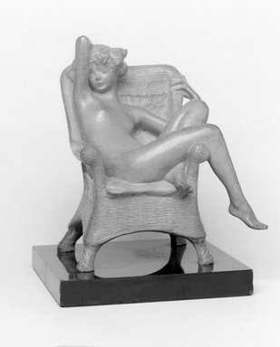 Emil Fuchs (American, 1866-1929). Siesta. Bronze with stone base, 8 1/2 x 7 3/4 x 6 3/4 in., 10.2 lb. (21.6 x 19.7 x 17.1 cm, 4.6kg). Brooklyn Museum, Gift of the Estate of Emil Fuchs, 32.2092.12. Creative Commons-BY