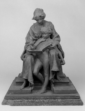 Emil Fuchs (American, 1866-1929). The First Lesson, 1913. Bronze on marble base, 20 3/16 x 16 9/16 x 15 3/8 in. (51.3 x 42.1 x 39.1 cm). Brooklyn Museum, Gift of the Estate of the Emil Fuchs, 32.2092.18. Creative Commons-BY