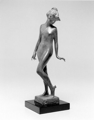 Emil Fuchs (American, 1866-1929). The Butterfly. Bronze, marble, 12 1/8 x 3 7/8 x 4 in. (30.8 x 9.8 x 10.2 cm). Brooklyn Museum, Gift of the Estate of Emil Fuchs, 32.2092.25. Creative Commons-BY