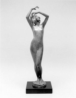 Emil Fuchs (American, 1866-1929). Dawn. Bronze, stone, 13 1/4 x 3 13/16 x 4 in. (33.7 x 9.7 x 10.2 cm). Brooklyn Museum, Gift of the Estate of Emil Fuchs, 32.2092.26. Creative Commons-BY