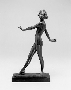 Emil Fuchs (American, 1866-1929). The Dancer, ca. 1912. Bronze, marble, 12 7/16 x 3 x 3 7/8 in. (31.6 x 7.6 x 9.8 cm). Brooklyn Museum, Gift of the Estate of Emil Fuchs, 32.2092.27. Creative Commons-BY