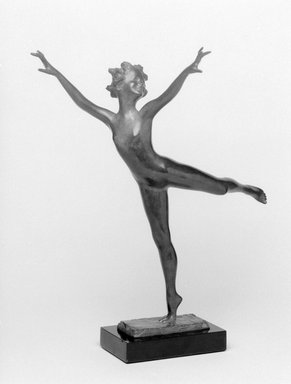 Emil Fuchs (American, born Austria, 1866-1929). Joy of Life. Bronze with stone base, 12 3/8 x 10 3/4 x 5 3/8 in. (31.4 x 27.3 x 13.7 cm). Brooklyn Museum, Gift of the Estate of Emil Fuchs, 32.2092.8. Creative Commons-BY