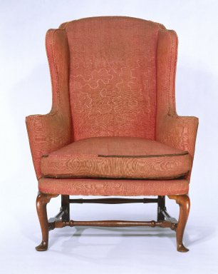 American. Wing Chair, 1740-1750. Walnut, 48 x 35 1/4 x 34 in. (121.9 x 89.5 x 86.4 cm). Brooklyn Museum, Henry L. Batterman Fund, Maria L. Emmons Fund, and Charles Stewart Smith Memorial Fund, 32.38. Creative Commons-BY