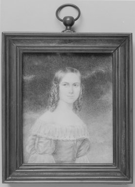Rademacher. Miniature of a young woman, n.d. Watercolor on ivory portrait in metal frame with glass lens, Image (sight): 3 13/16 x 3 1/8 in. (9.7 x 7.9 cm). Brooklyn Museum, Bequest of Margaret S. Bedell, 32.469