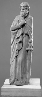 Statuette of St. Paul. Marble, 13 x 4 x 2 in. (33 x 10.2 x 5.1 cm). Brooklyn Museum, Gift of the executors of the Estate of Colonel Michael Friedsam, 32.668. Creative Commons-BY