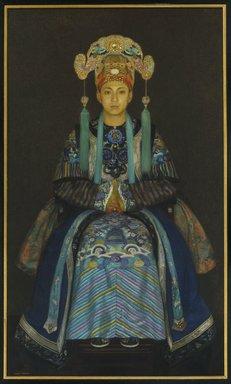 Albert Herter (American, 1871-1950). Pilgun Yoon, ca. 1923. Oil on canvas, 70 1/8 x 41 1/4 in. (178.1 x 104.7 cm). Brooklyn Museum, Gift of Mrs. Frederic B. Pratt, 32.68. © Estate of Albert Herter