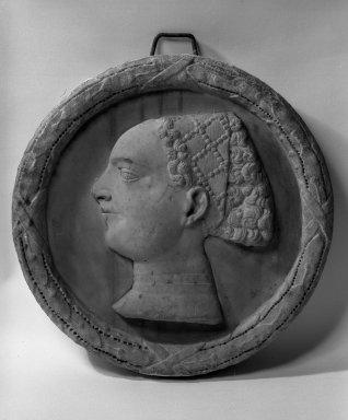 Bust of a Lady, 14th century. Marble, 17 1/2 inches in diameter. Brooklyn Museum, Gift of the executors of the Estate of Colonel Michael Friedsam, 32.777. Creative Commons-BY