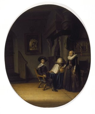 Circle of Gerrit Dou (Dutch, 1613-1675). Burgomaster Hasselaar and His Wife, mid-17th century. Oil on panel, Oval: 27 3/16 x 23 in. (69.1 x 58.4 cm). Brooklyn Museum, Gift of the executors of the Estate of Colonel Michael Friedsam, 32.783