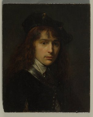 Gerrit Dou (Dutch, 1613-1675). Self-Portrait, ca. 1631. Oil on panel, Frame: 13 x 12 in. (33 x 30.5 cm). Brooklyn Museum, Gift of the executors of the Estate of Colonel Michael Friedsam, 32.784