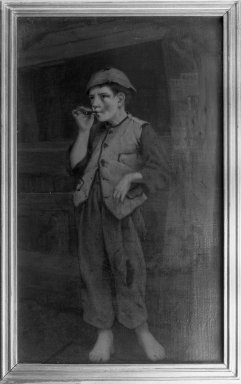 Brooklyn Museum: Standing Boy Smoking a Cigar