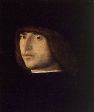 Giovanni Bellini (Italian, Venetian, active by 1459, died 1516). Portrait of a Young Man, ca. 1480. Tempera with oil glazes on panel, 10 1/2 x 8 3/8 in. (26.7 x 21.3 cm). Brooklyn Museum, Gift of the executors of the Estate of Colonel Michael Friedsam, 32.804