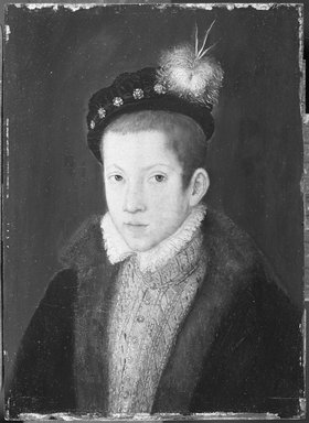 Circle of François Clouet (French, ca. 1516-1572). Portrait of a Child, ca. 1570. Oil on panel, 7 3/4 x 5 5/8 in. (19.7 x 14.3 cm). Brooklyn Museum, Gift of the executors of the Estate of Colonel Michael Friedsam, 32.811