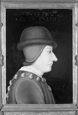Copy after Jean Fouquet (French, born 1415/20, died before 1481). Portrait of Louis XI, 16th century. Oil on panel, 15 x 10 3/4 in.  (38.1 x 27.3 cm). Brooklyn Museum, Gift of the executors of the Estate of Colonel Michael Friedsam, 32.819
