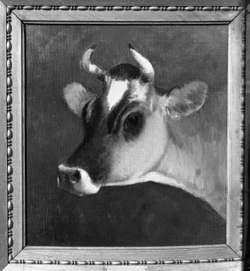 William Hart (American, 1823-1894). Head of a Cow, second half of 19th century. Oil on canvas, 13 1/8 x 12 1/8 in. (33.4 x 30.8 cm). Brooklyn Museum, Gift of the executors of the Estate of Colonel Michael Friedsam, 32.820