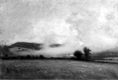 Arthur Parton (American, 1842-1914). The Mist, after 1875. Oil on canvas, 18 1/8 x 25 7/8 in. (46 x 65.8 cm). Brooklyn Museum, Gift of the executors of the Estate of Colonel Michael Friedsam, 32.853