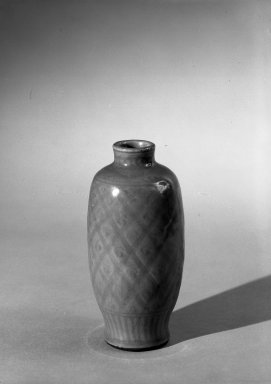 Vase with Cover, 1368-1644. High-fired green-ware (celadon), H: 6 7/8 in. (17.5 cm). Brooklyn Museum, Gift of the executors of the Estate of Colonel Michael Friedsam, 32.911a-b. Creative Commons-BY