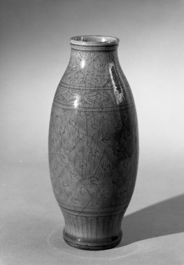 Vase, 1368-1644. High-fired green-ware (celadon), H: 9 7/8 in. (25.1 cm). Brooklyn Museum, Gift of the executors of the Estate of Colonel Michael Friedsam, 32.912. Creative Commons-BY