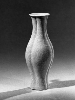 Small Vase, Slender Ovoid Body, 18th century. Porcelain, glaze, 4 13/16 x 1 15/16 in. (12.2 x 5 cm). Brooklyn Museum, Gift of the executors of the Estate of Colonel Michael Friedsam, 32.941. Creative Commons-BY