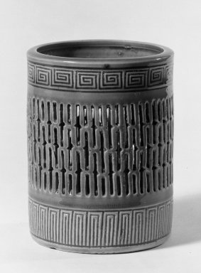 Brush Jar, 18th century. Porcelain with turquoise glaze, 4 3/4 x 3 5/8 in. (12.1 x 9.2 cm). Brooklyn Museum, Gift of the executors of the Estate of Colonel Michael Friedsam, 32.958. Creative Commons-BY