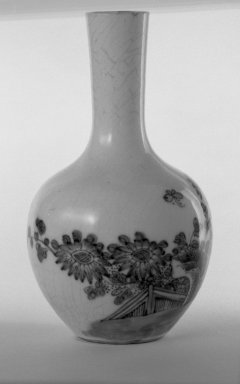 Vase, 1662-1722. Porcelain with cobalt-blue underglaze decoration (roasted blue-and-white), 5 3/8 x 3 1/8 in. (13.6 x 8 cm). Brooklyn Museum, Gift of the executors of the Estate of Colonel Michael Friedsam, 32.981. Creative Commons-BY