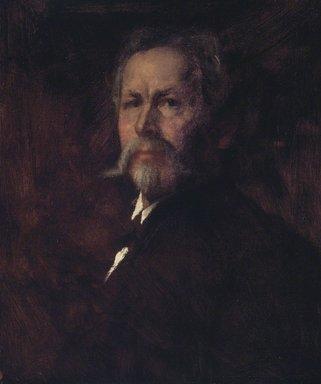 Eastman Johnson (American, 1824-1906). Self Portrait, ca. 1890. Oil on canvas, 24 x 19 15/16 in. (60.9 x 50.7 cm). Brooklyn Museum, Carll H. de Silver Fund, 33.137