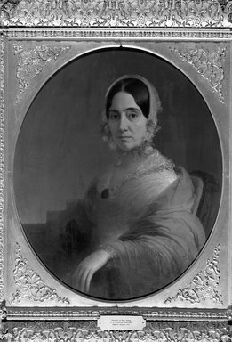 Charles Cromwell Ingham (American, 1796-1863). Mrs. Theodore Camp, ca. 1845. Oil on canvas, 29 15/16 x 24 15/16 in. (76 x 63.3 cm). Brooklyn Museum, Bequest of Augusta A. Baldwin, 33.16.1
