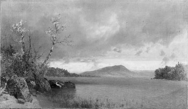 John Frederick Kensett (American, 1816-1872). Lake George, 1870. Oil on canvas, 14 x 24 1/8 in. (35.6 x 61.2 cm). Brooklyn Museum, Gift of Mrs. W. W. Phelps in memory of her mother and father, Ella M. and John C. Southwick, 33.219